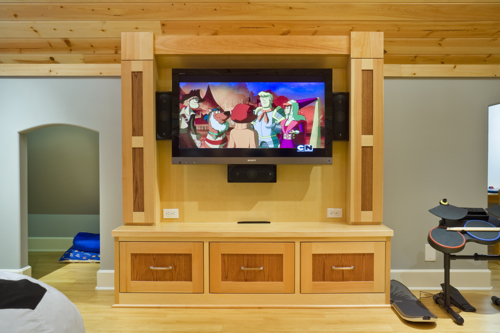 Kids Playroom With Tv timber frame playroom